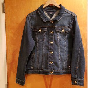 Tommy Hilfiger Denim Jean Jacket w/distress marks